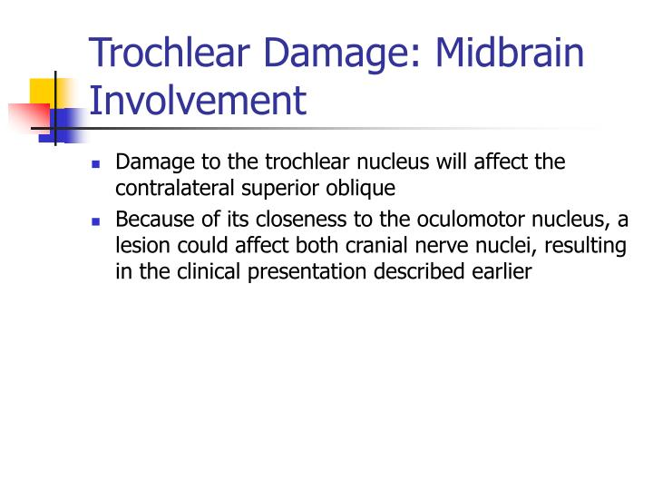 Trochlear Damage: Midbrain Involvement
