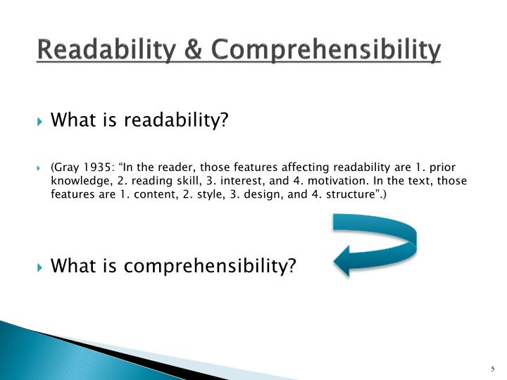 Readability & Comprehensibility