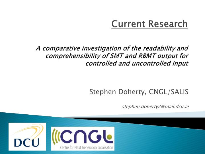 Stephen doherty cngl salis s tephen doherty2@mail dcu ie