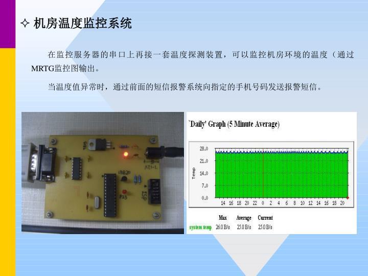 机房温度监控系统