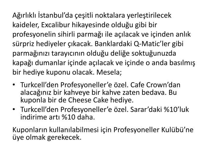 Ağırlıklı İstanbul'da çeşitli noktalara yerleştirilecek