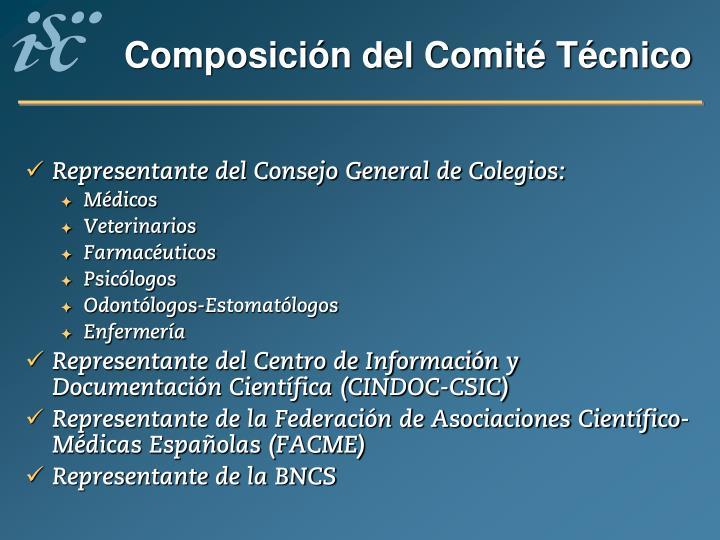 Composición del Comité Técnico