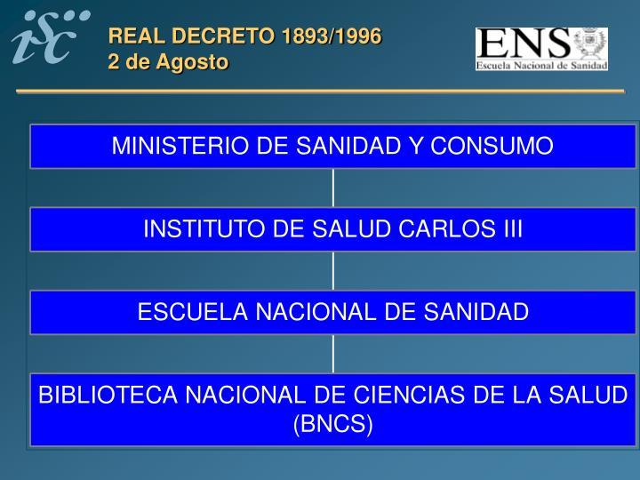 REAL DECRETO 1893/1996
