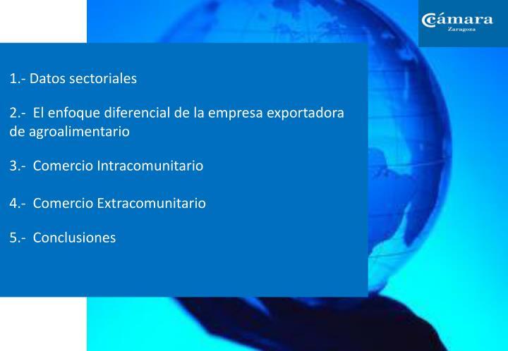 1.- Datos sectoriales