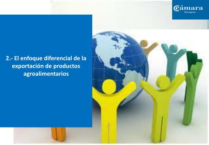 2.- El enfoque diferencial de la exportación de productos agroalimentarios