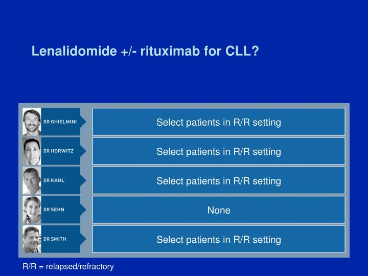 Lenalidomide +/- rituximab for CLL?