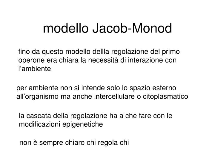 modello Jacob-Monod