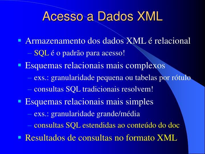 Acesso a Dados XML
