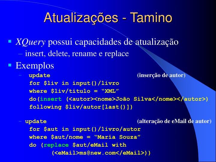 Atualizações - Tamino