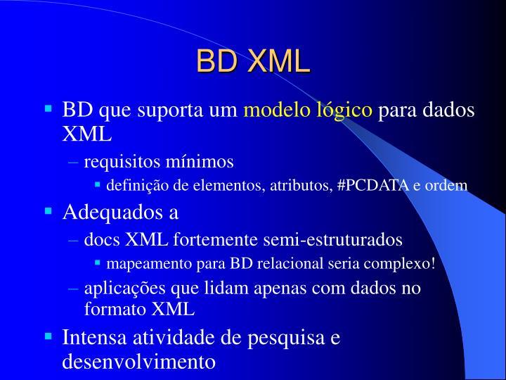 BD XML