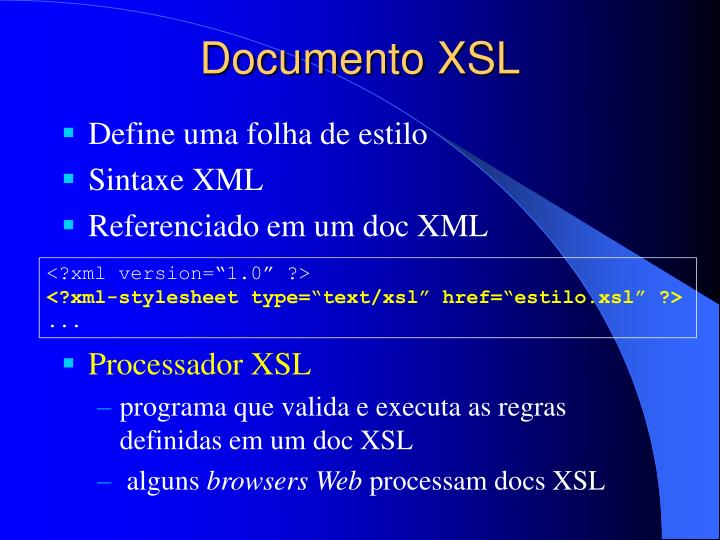 Documento XSL