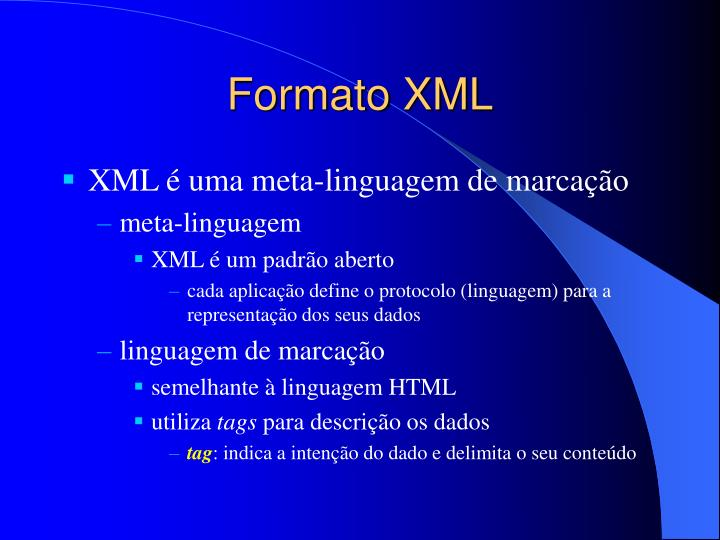 Formato XML