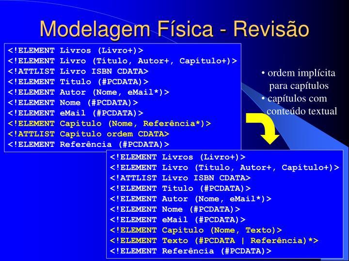 Modelagem Física - Revisão