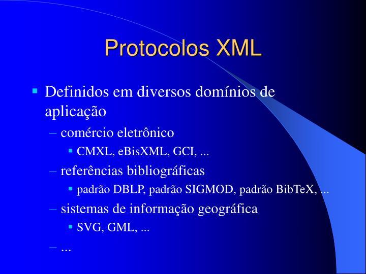 Protocolos XML