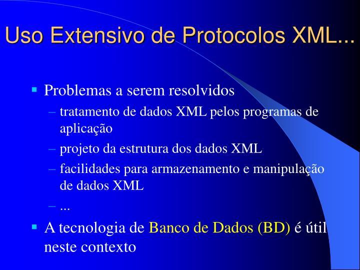 Uso Extensivo de Protocolos XML...