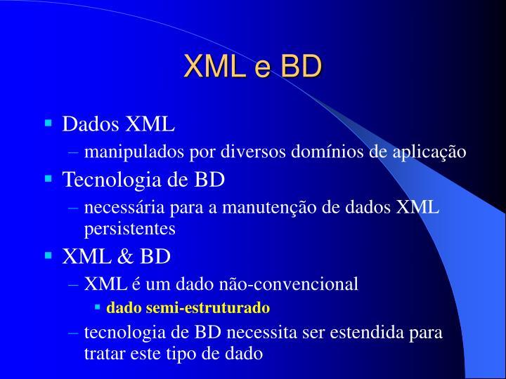 XML e BD