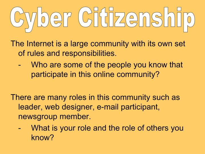 Cyber Citizenship