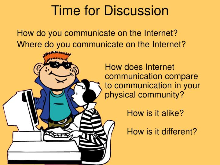 Time for Discussion
