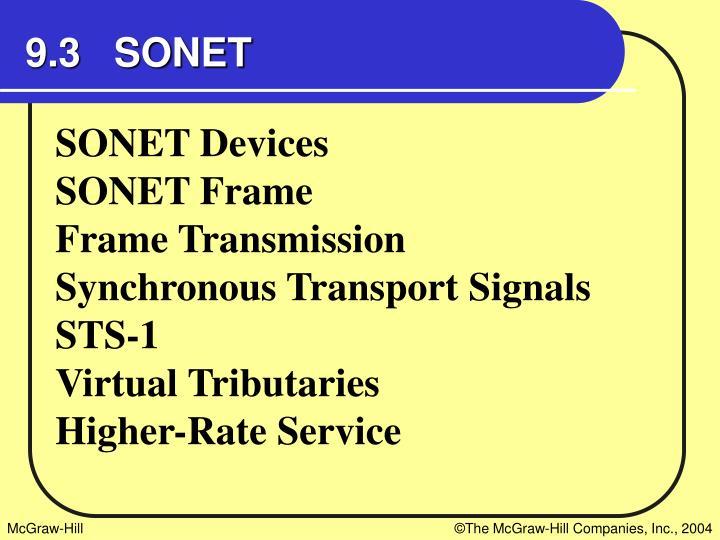 9.3   SONET