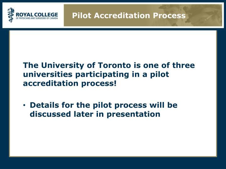 Pilot Accreditation Process
