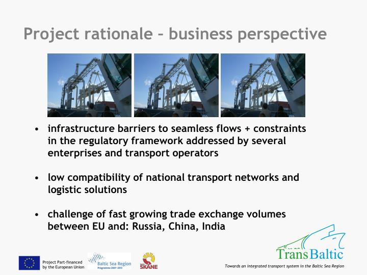 Project rationale – business perspective