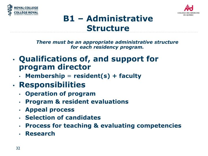 B1 – Administrative Structure