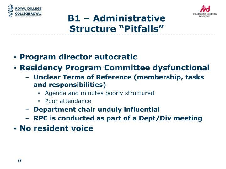 B1 – Administrative