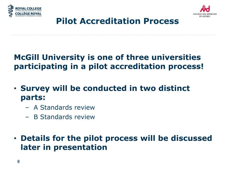 Pilot Accreditation Process
