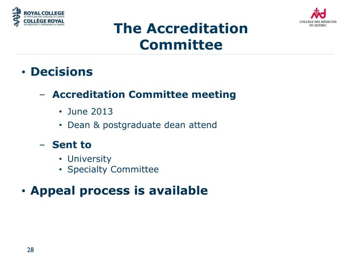 The Accreditation Committee