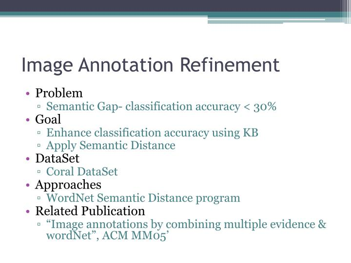 Image annotation refinement