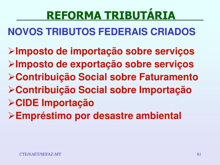 REFORMA TRIBUTÁRIA