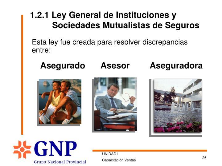 1.2.1 Ley General de Instituciones y Sociedades Mutualistas de Seguros