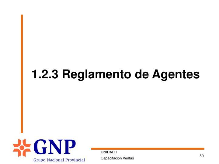 1.2.3 Reglamento de Agentes