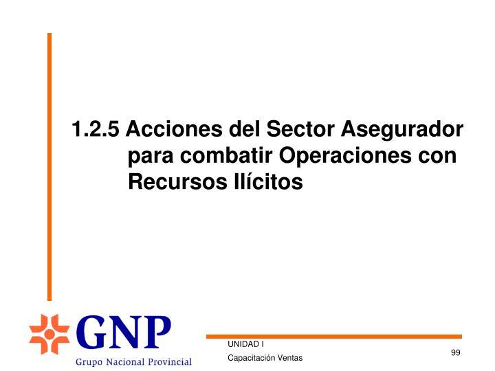 1.2.5 Acciones del Sector Asegurador para combatir Operaciones con Recursos Ilícitos