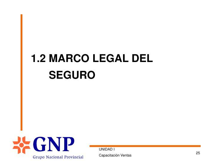 1.2 MARCO LEGAL DEL SEGURO