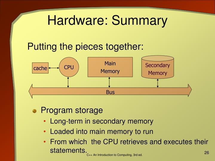 Hardware: Summary