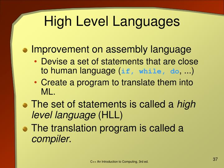 High Level Languages