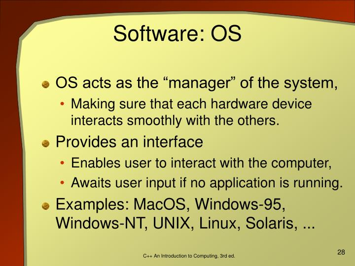 Software: OS