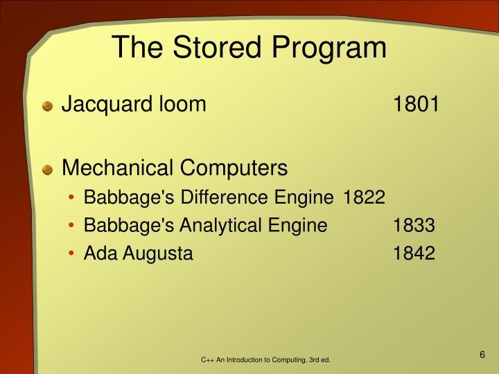 The Stored Program