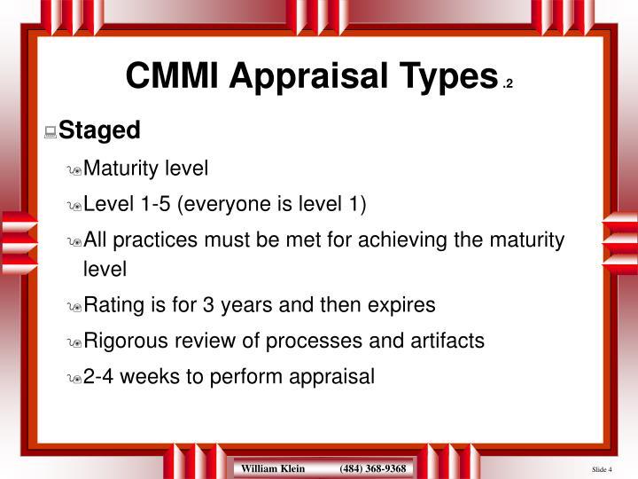 CMMI Appraisal Types