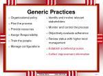 generic practices