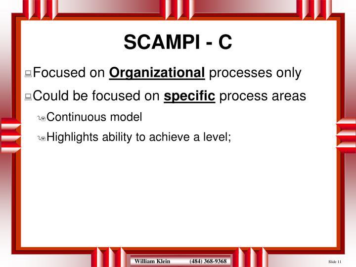 SCAMPI - C
