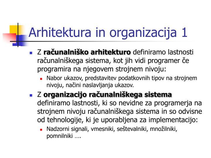 Arhitektura in organizacija