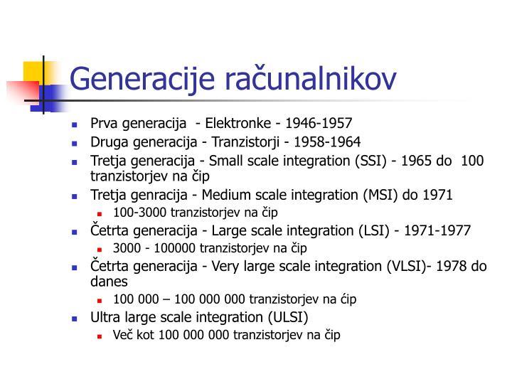 Generacije računalnikov