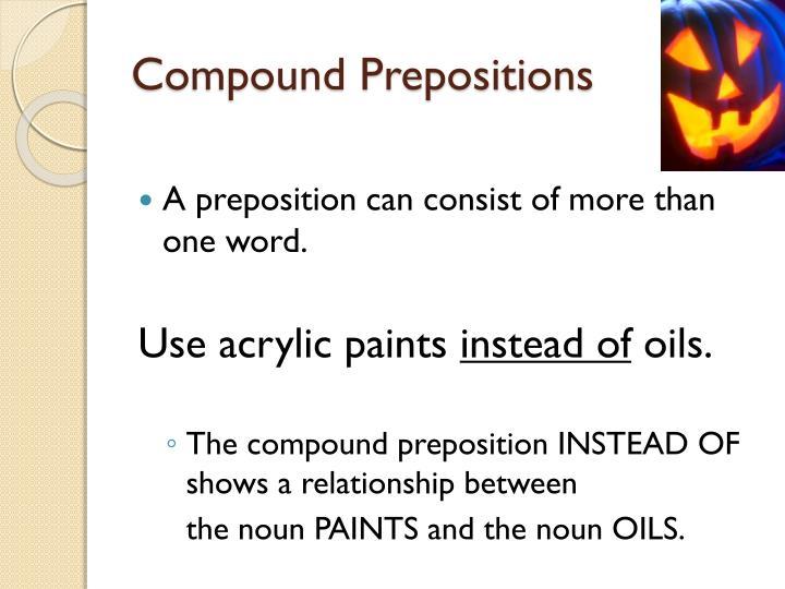 Compound Prepositions