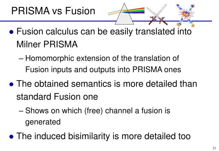 PRISMA vs Fusion