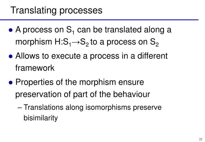 Translating processes