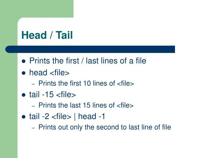 Head / Tail