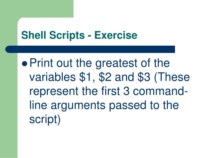 Shell Scripts - Exercise