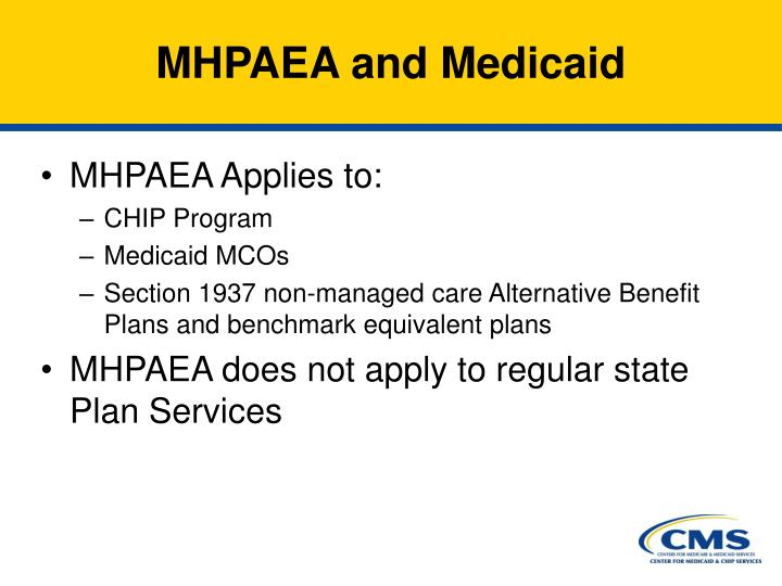 MHPAEA and Medicaid